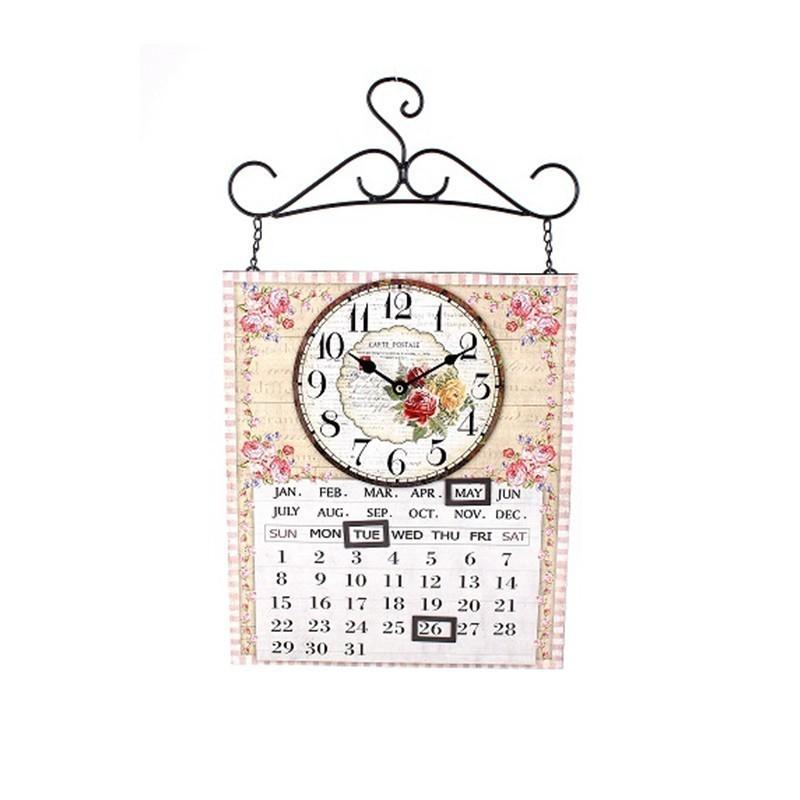 Väggklocka Kalender