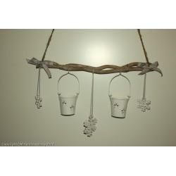 2 hanging lanterns