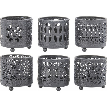6 st svart lyktor i paketpris