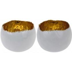 2 st lyktor i vitt och guld