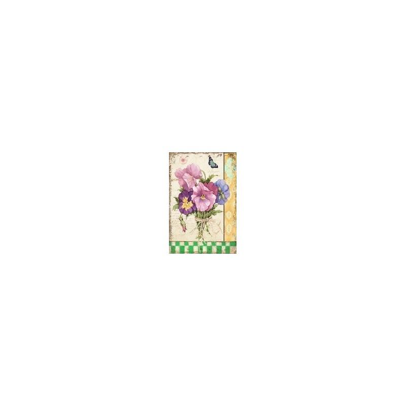 Plåtskylt blomma