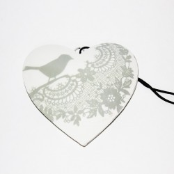 Heart with bird