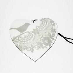 Hjärta med fågel