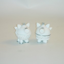 Christmas pig white/silver