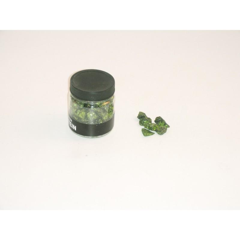 dekorationssten grön glitter