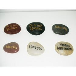 Sten med Text (6 st)