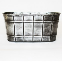 Zink skål oval silver