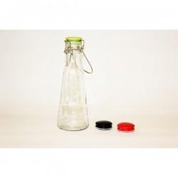 Glasflask med lock