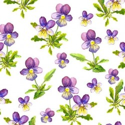 Coffee napkins Violets