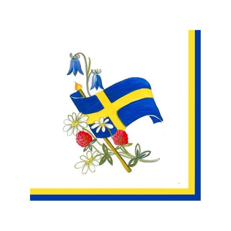 Matservett bukett med flagga