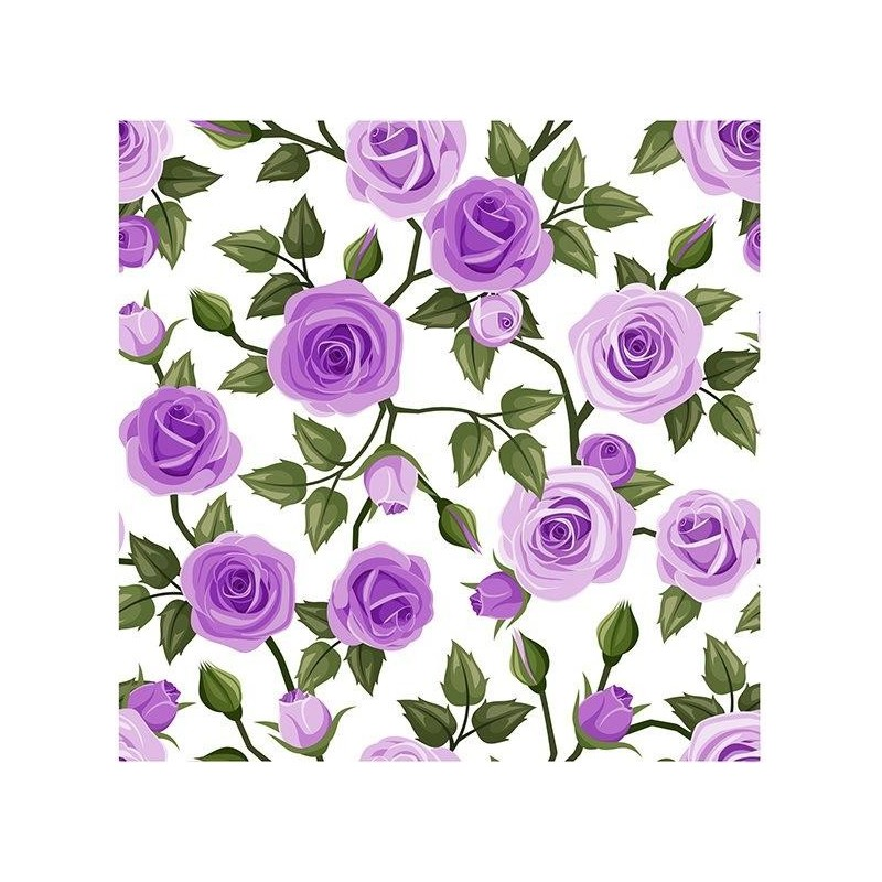 Matservett Ros lila