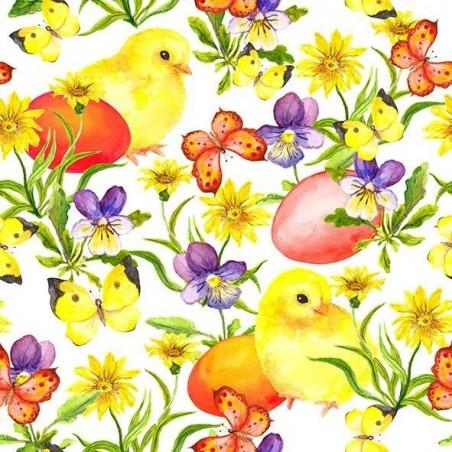 Diner napkins Easter chicken