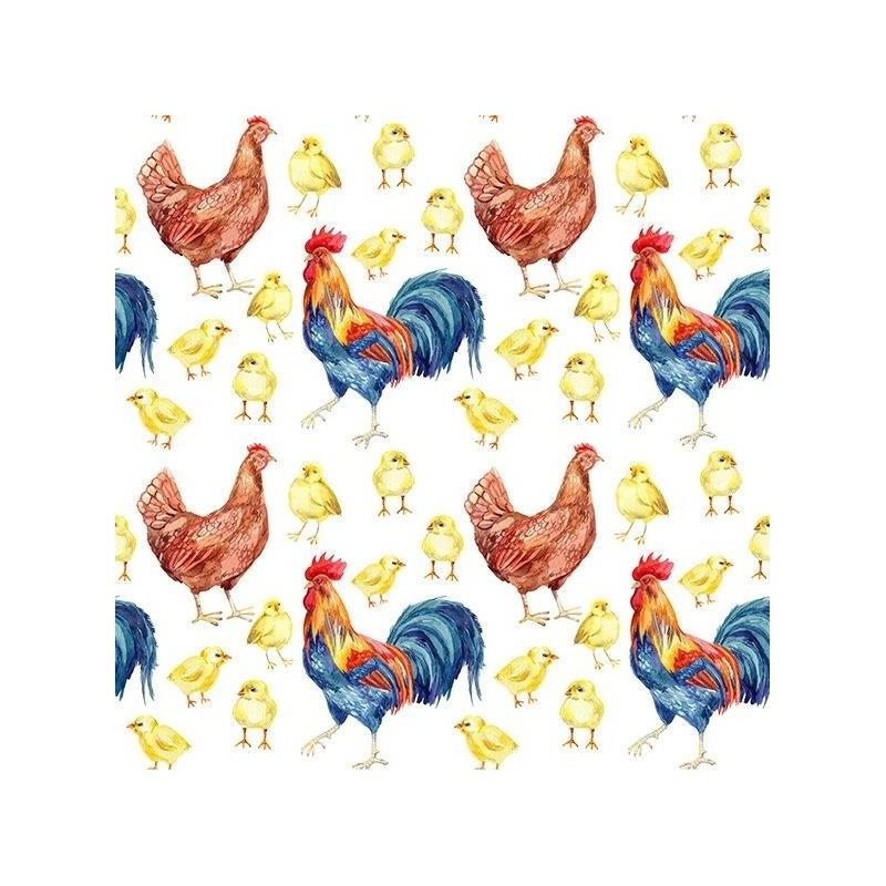 Diner napkins Roosters
