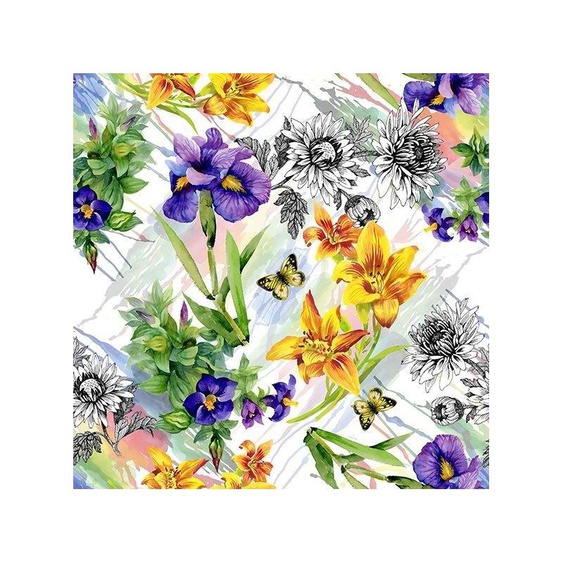 Diner napkins Flowers