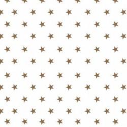 Kaffeservett Stjärnor Koppar Vit