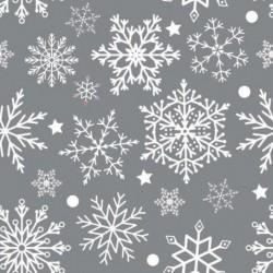 Matservett Snöflinga grå