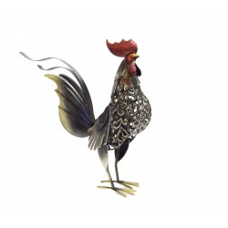 Rooster in metal