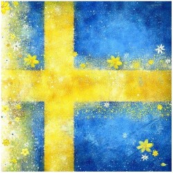 Matservett Flagga Blomma
